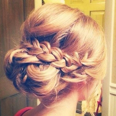 braid, hair, bun