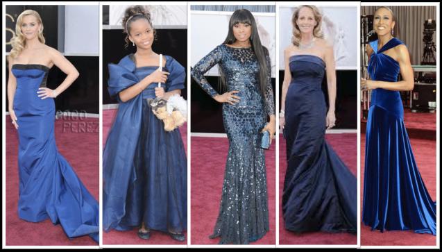 Blue Dresses Oscars 2013