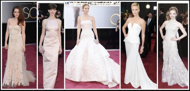 White Dresses Oscars 2013