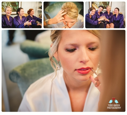 Bride Kelly and Bridesmaids Makeup