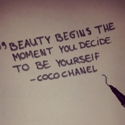 coco chanel - be yourself